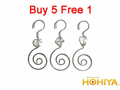 Hot 36pcs Silver Swirl Decorative Christmas Tree Ornament Hooks Hangers