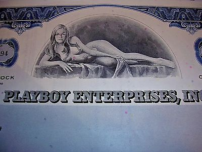 PLAYBOY STOCK CERTIFICATE -Hef's Signature !!  YES!!!!! Buy now?  YES!!!  CYBER