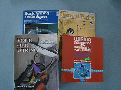 LOT OF 4 ON ELECTRICAL WIRING BASIC INSTALLATION MAINTENANCE