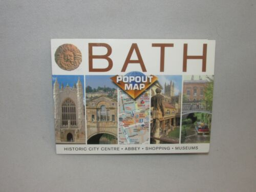 Popout Map * Bath England * Historic City Centre Abbey Shopping Museums *