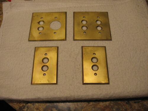 Vintage Brass Pushbutton Switch Plates