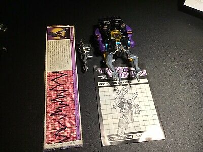 Insecticon Shrapnel Transformers G1 Takara 1983 Complete.