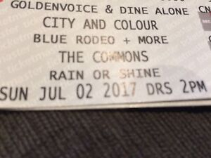 City & Colour/Blue Rodeo/Strumbellas tickets July 2nd