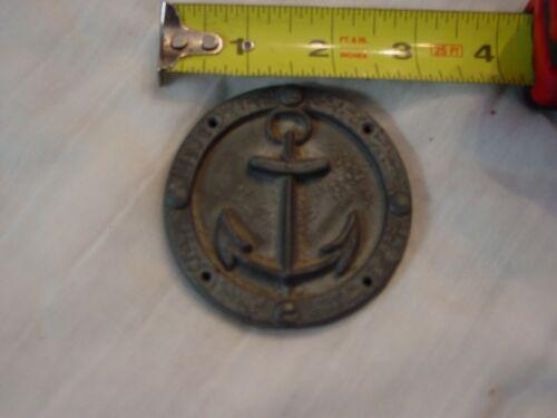 aluminum anchor medallion 2 3/4 dia