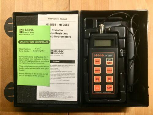 Hanna Instruments HI 9565 Dewpoint Hygrometer - probe, calibrated, case