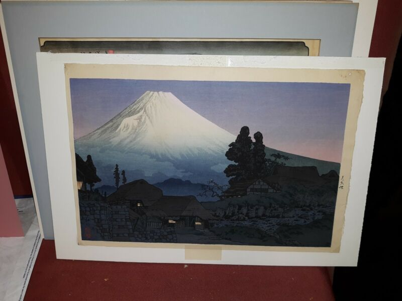 Japanese Woodblock Print Mt Fuji
