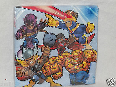 NEW MARVEL SUPER HERO SQUAD LUNCHEON NAPKINS  PARTY SUPPLIES   (Super Hero Squad Party Supplies)