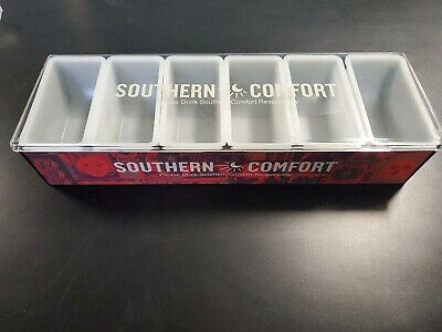 Southern Comfort Bar Top Garnish Center 6 Condiment Dispenser Brand New