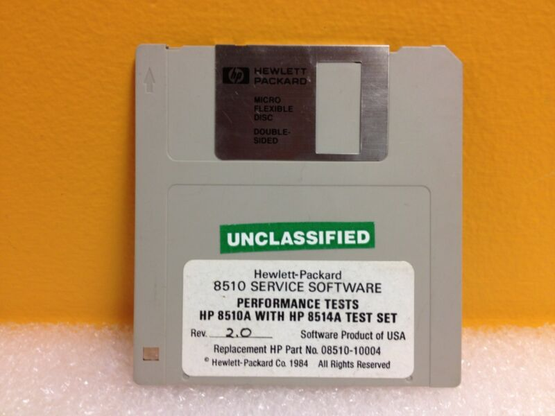 HP 08510-10004 HP 8510 Service Software Disk 1/1, HP 8510A with 8514A Test Set