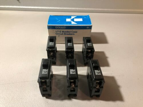 NEW IN BOX GOULD 60 AMP 1 POLE CIRCUIT BREAKERS Q160 BOX OF 6