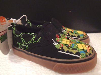 Ninja Turtles Shoes (Teenage Mutant Ninja Turtles Canvas Slip On Turtle Shoes Sneakers Black)