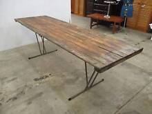 C26026 Terrific Vintage Timber Trestle Dining Table CAFE Outdoor Unley Unley Area Preview