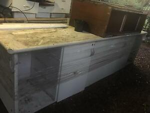 White storage cabinet. Burwood Burwood Area Preview