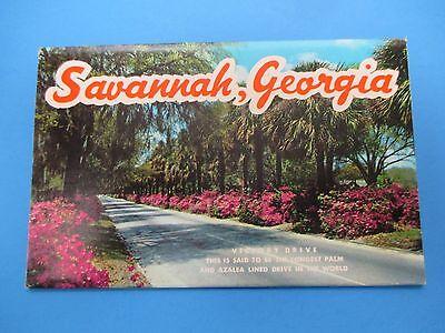 Vintage Souvenir Postcard Folder Savannah, GA  S317