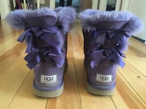Uggs purple with bows