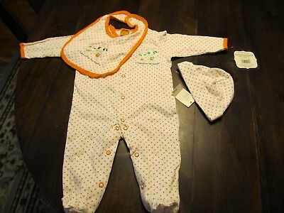 Baby Halloween Coverall One Piece Hat Bib 6 Month