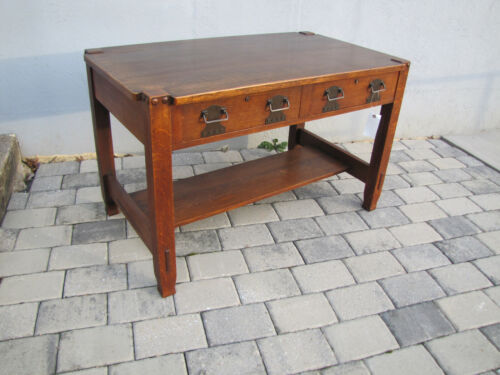 EARLY Stickley Bros lib table/desk