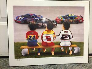 Kids decorative print on plack 16x20 inches