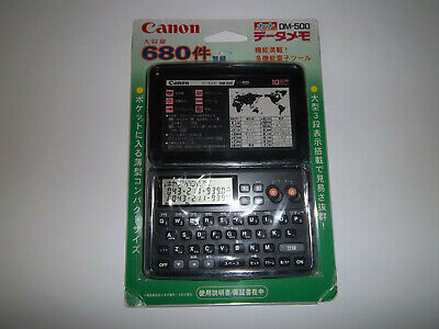 Vintage Canon DM-500 Organizer PDA Calculator Phonebook Memo NEW Japanese