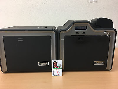 Fargo HDPii HDP5000 Double Sided ID Card System + Supplies