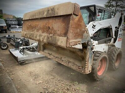74 4-in-1 Combination Bucket Skid Steer Loader Attachment Bobcat Oem 6 Clam