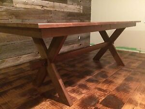 New walnut dining table
