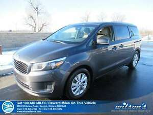 2015 Kia Sedona LX | 8 PASSENGER | REAR CAMERA | HEATED + POWER