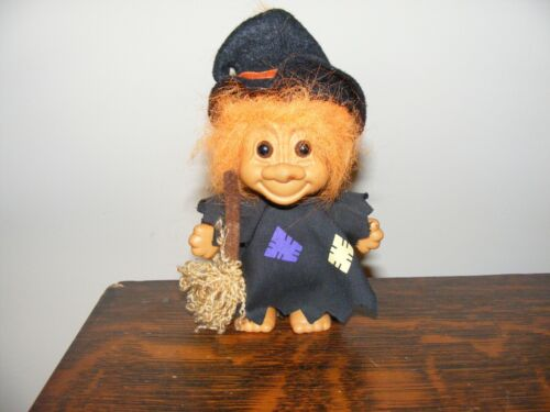 Halloween Troll Doll Witch by Russ Orange Hair with Brown Eyes