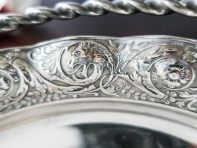 Victorian Silver Plate Bride's Basket James Tufts Antique Griffin Dragon