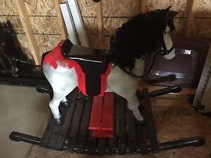 Homemade wooded rocking horse