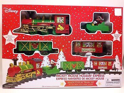 Disney Christmas Mickey Mouse Holiday Express Ready To Play 12pc Train Set