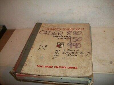 Origin Dealer Case Ih David Brown Tractor 880 950 990 Parts Catalog Manual Book