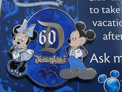 Disney Vacation Club DVC Disneyland Mickey Minnie Mouse 60th Anniversary Pin