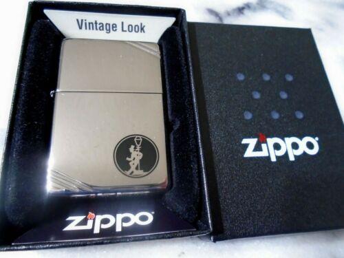 Zippo Chrome Reveler Drunk Vintage Look Lighter Fancy Flame Steel 260 Standard