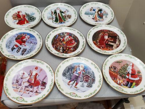Lenox International Victoria Colection Christmas Plate Set of 9