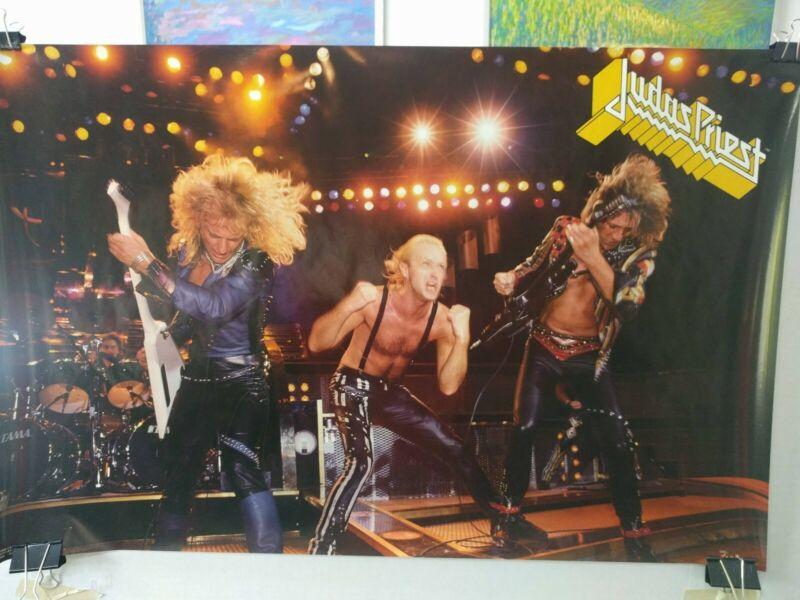 Judas Priest original vintage poster Live in 1986 unused
