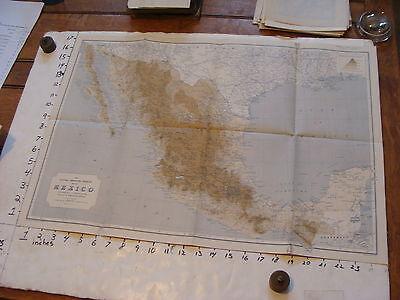 vintage map 1911 MEXICO
