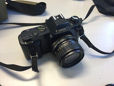 Macchina fotografica CANON T50 REFLEX VINTAGE a rullino, completa di obiettivi