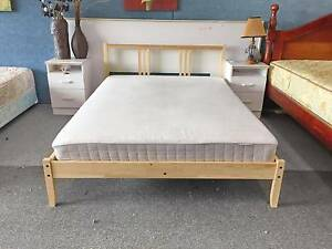 TODAY DELIVERY MODERN WOODEN Double bed & COMFORT mattress Belmont Belmont Area Preview