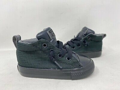 Toddler High Top Converse (NEW! Converse Toddler Boy's Lace Up High Top Shoes Black #760871F 147D)