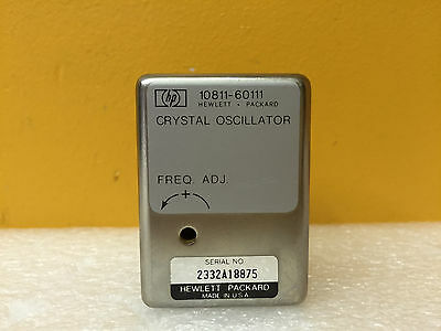 Hp Agilent 10811-60111 10.000 Mhz Precision Quartz Crystal Oscillator. Tested