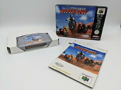 TOP GEAR HYPERBIKE HYPER BIKE FOR NINTENDO 64 N64 PAL EUR COMPLETE - FREE P&P