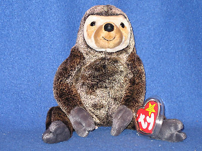 TY SLOWPOKE the SLOTH BEANIE BABY - MINT with MINT TAGS on Rummage