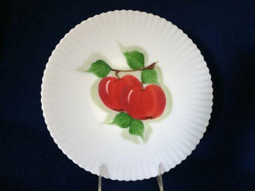 MacBeth Evans Monax Petalware Hand Painted Salver Plate with Apples