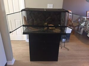 Exo Terra large glass terrarium and stand
