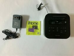 iHome iPL8BN Stereo FM Clock Radio with Lightning Dock for iPhone/iPod