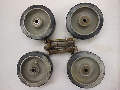 Bassick Heavy Duty Caster Wheel 6 X 2 - Set Of 4 W Bolts - For 500 Lbs. - New