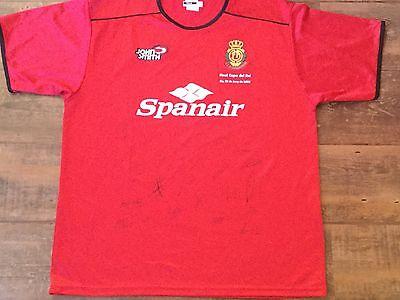 2002 2003 Mallorca Adults XL Football Shirt Camiseta Signed Final Copa Del Rey  image