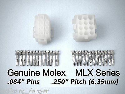 12 Circuit Mlx Connector - Complete Molex Wire Connector With Pins