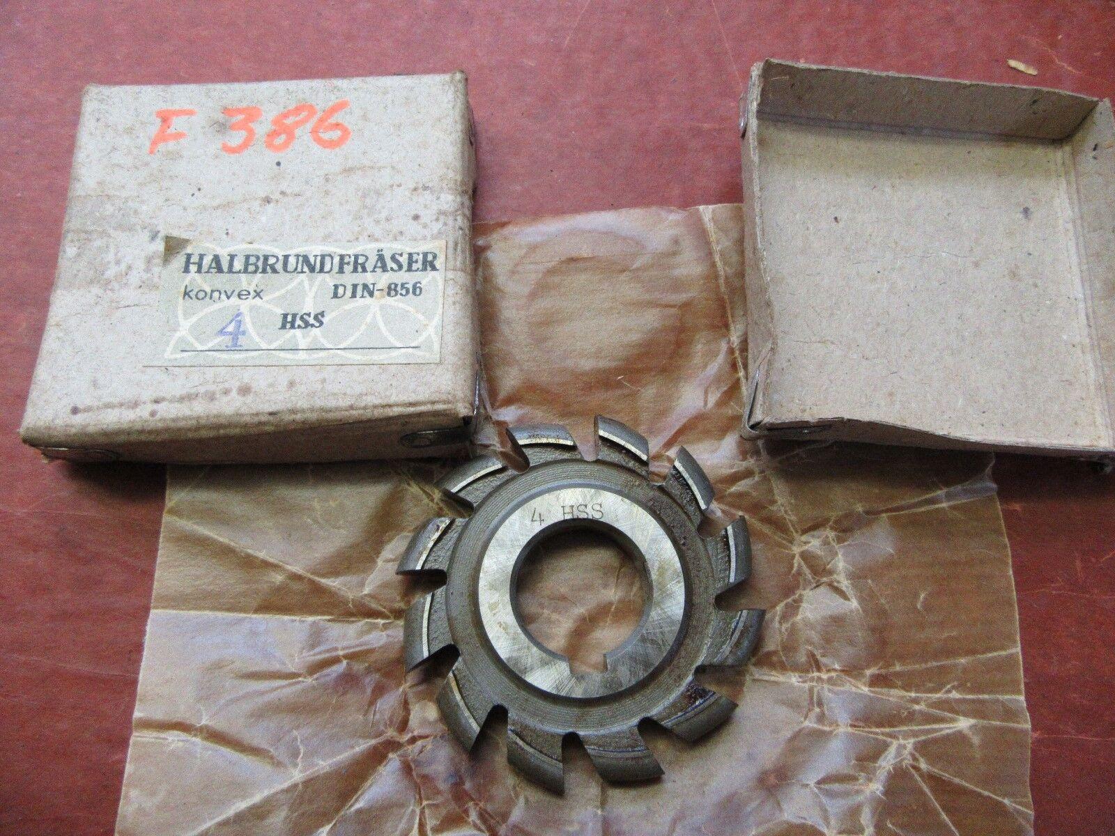 Halbkreisformfräser konvex  4HSS 63/8 Halbrundfräser Halbkreisfräser  #F386#